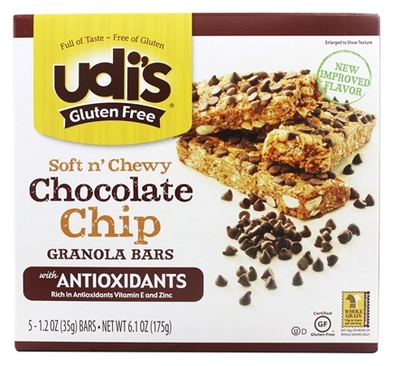 DROPPED: Udi's - Gluten Free Soft n' Chewy Granola Bars Chocolate Chip - 5 Bars
