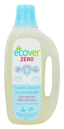 Ecover - Zero Laundry Detergent 2X Concentrated 34 Loads Unscented - 51 oz.