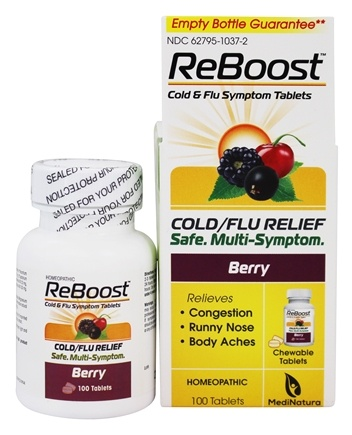 MediNatura - ReBoost Cold & Flu Relief - 100 Tablets Formerly BHI/Heel Reboost Cold & Flu Relief