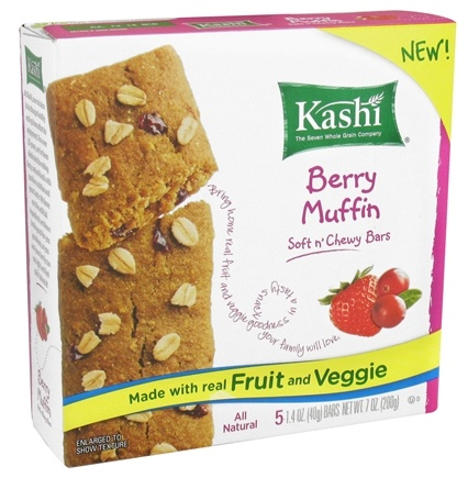 DROPPED: Kashi - Organic Soft n' Chewy Nutritional Bars Berry Muffin - 5 Bars