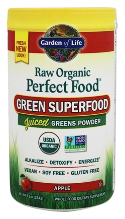 Garden of Life - Perfect Food Raw Organic Green Superfood Apple - 8.2 oz.