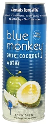 Blue Monkey - 100% Pure Coconut Water - 17.6 oz.