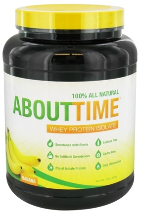 About Time - Whey Protein Isolate Banana - 2 lbs.