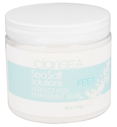 DROPPED: clariSEA - SeaSalt Solutions Perfect Pedi Peppermint Soak - 18 oz.