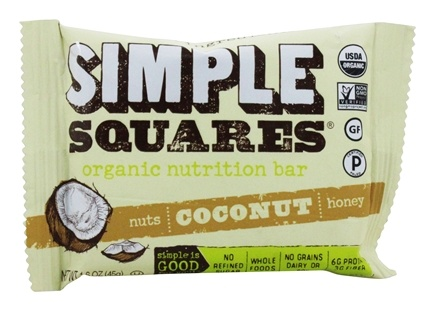 Simple Squares - Organic Gluten-Free Nuts & Honey Nutrition Bar Coconut - 1.6 oz.