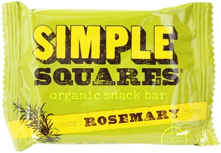 DROPPED: Simple Squares - Organic Gluten-Free Nuts & Honey Nutrition Bar Rosemary - 1.6 oz.