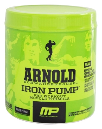 DROPPED: Muscle Pharm - Arnold Schwarzenegger Series Arnold Iron Pump Fruit Punch - 6.35 oz.
