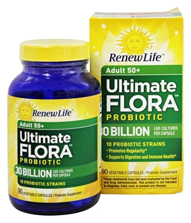 Renew Life - Ultimate Flora Adult 50+ Probiotic - 90 Vegetable Capsule(s) Formerly Senior Formula