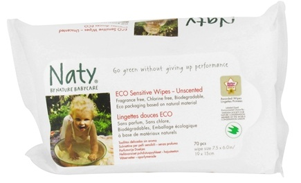 DROPPED: Naty - Babycare Eco Sensitive Wipes Unscented - 70 Wipe(s)