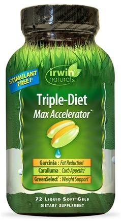 Irwin Naturals - Triple-Diet Max Accelerator with Garcinia Cambogia - 72 Softgels