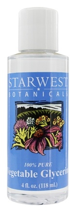 DROPPED: Starwest Botanicals - Vegetable Glycerine 100% Pure - 4 oz.