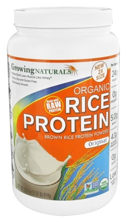 Growing Naturals - Organic Rice Protein Original - 32.4 oz.