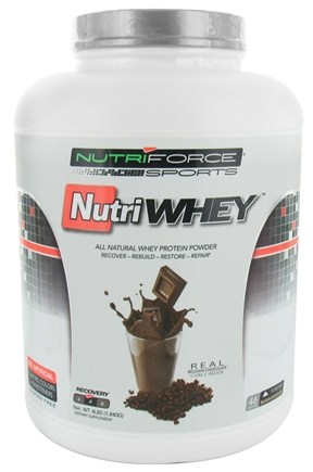 DROPPED: NutriForce Sports - NutriWhey All Natural Whey Protein Powder Belgian Chocolate - 4 lbs.