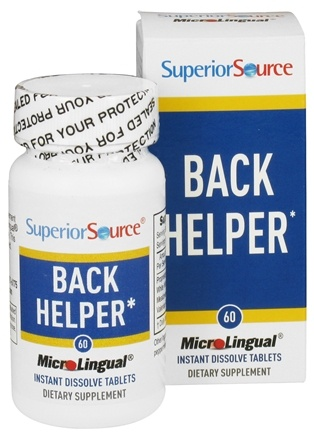 DROPPED: Superior Source - Back Helper Instant Dissolve - 60 Tablets