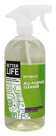 Better Life - Naturally Filth-Fighting All-Purpose Cleaner Clary Sage & Citrus - 32 oz. Formerly What-Ever!