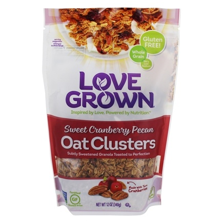 DROPPED: Love Grown Foods - Oat Clusters Toasted Granola Sweet Cranberry Pecan - 12 oz. CLEARANCE PRICED