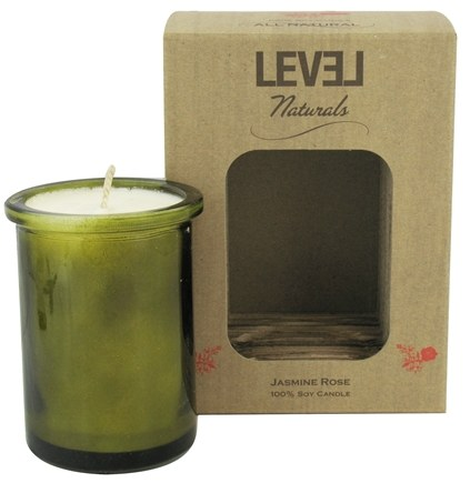 DROPPED: Level Naturals - Soy Candle Jasmine Rose - 6 oz.