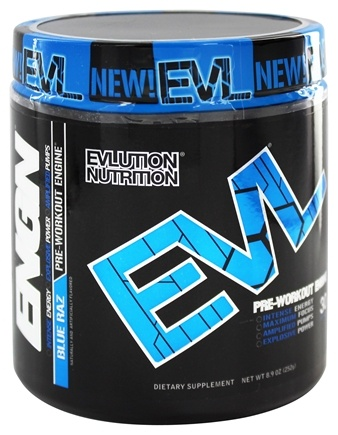 DROPPED: Evlution Nutrition - ENGN Pre-Workout Engine 30 Servings Blue Raz - 6.7 oz.