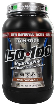 DROPPED: Dymatize Nutrition - ISO 100 100% Hydrolyzed Whey Protein Isolate Gourmet Chocolate - 1.6 lbs.