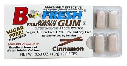 B Fresh - Breath Freshening Sugar Free Gum Cinnamon - 12 Piece(s)