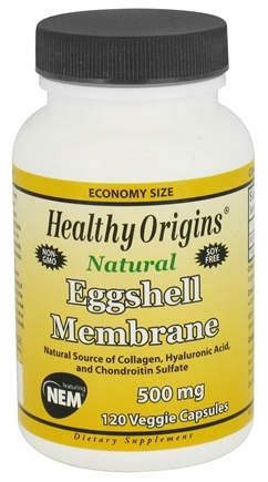 Healthy Origins - Natural Eggshell Membrane 500 mg. - 120 Vegetarian Capsules