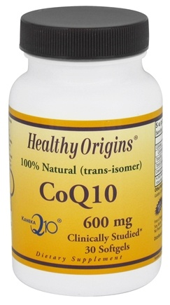DROPPED: Healthy Origins - CoQ10 Kaneka Q10 Gels 600 mg. - 30 Softgels