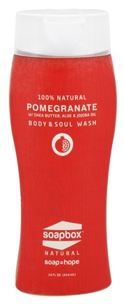 DROPPED: Soapbox Soaps - All Natural Body & Soul Wash Pomegranate - 14 oz.