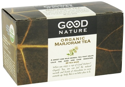 DROPPED: Good Nature Tea - Organic Tea Caffeine Free Marjoram - 20 Tea Bags