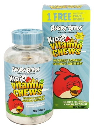 DROPPED: Natrol - Angry Birds Kid's Vitamin Chews - 180 Chewable Tablets