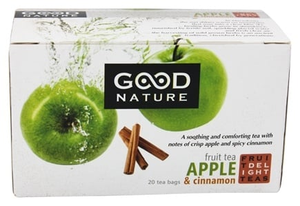 DROPPED: Good Nature Tea - Fruit Delight Tea Caffeine Free Apple & Cinnamon - 20 Tea Bags