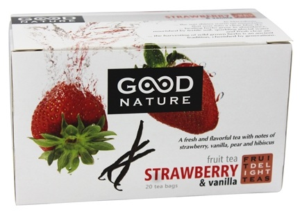 Good Nature Tea - Fruit Delight Tea Caffeine Free Strawberry & Vanilla - 20 Tea Bags
