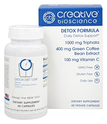 Creative BioScience - Detox Formula - 60 Capsules Formerly Detox Diet 1234