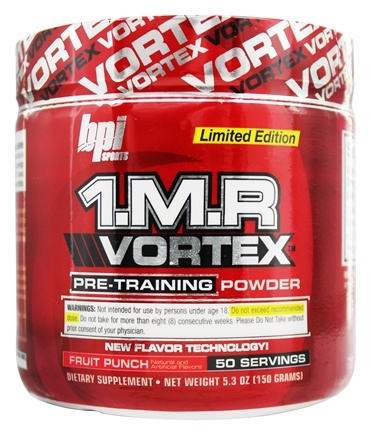 DROPPED: BPI Sports - 1 M.R Vortex Limited Edition Pre-Workout Powder Fruit Punch 50 Servings - 150 Grams