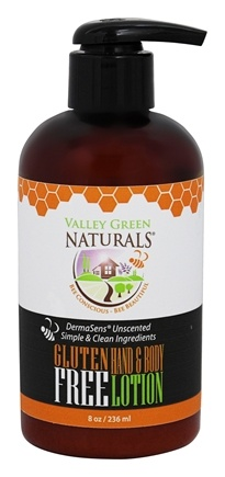 Valley Green Naturals - Gluten-Free Hand & Body Lotion Unscented - 8 oz.
