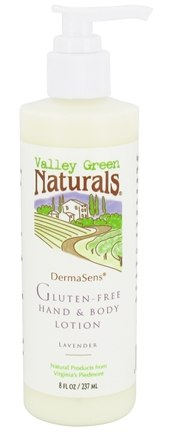 DROPPED: Valley Green Naturals - DermaSens Gluten-Free Hand & Body Lotion Lavender - 8 oz.