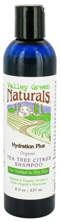 DROPPED: Valley Green Naturals - Hydration Plus Organic Tea Tree Citrus Shampoo - 8 oz.