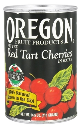 DROPPED: Oregon Fruit Products - Pitted Cherries Red Tart in Water - 14.5 oz.