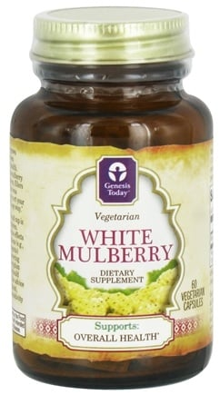 DROPPED: Genesis Today - White Mulberry 400 mg. - 60 Vegetarian Capsules