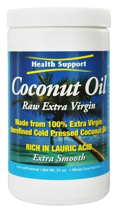 Health Support - Coconut Oil Raw Extra Virgin - 31 oz.