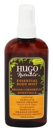 Hugo Naturals - Essential Body Mist Comforting Vanilla & Sweet Orange - 4 oz.