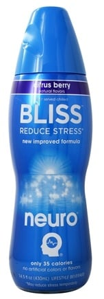 Neuro - Bliss Lightly Carbonated Nutritional Supplement Drink Summer Citrus Berry - 14.5 oz.