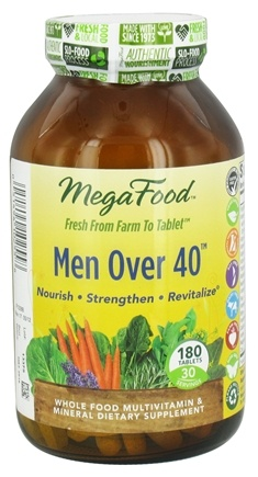 DROPPED: MegaFood - Men Over 40 Multivitamin - 180 Tablets