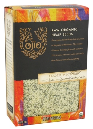 Ojio - Hemp Seeds Raw Organic - 16 oz.