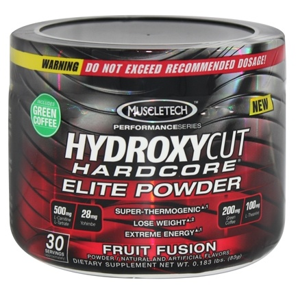 DROPPED: Muscletech Products - Hydroxycut Hardcore Elite Powder Performance Series Fruit Fusion 30 Servings - 83 Grams