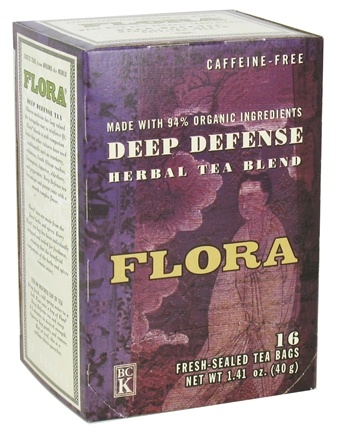 DROPPED: Flora - Herbal Tea Blend Deep Defense Caffeine-Free - 16 Tea Bags