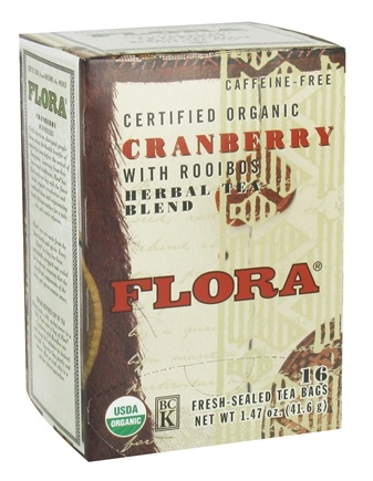 Zoom View - Certified Organic Herbal Tea Blend Cranberry with Rooibos Caffeine-Free