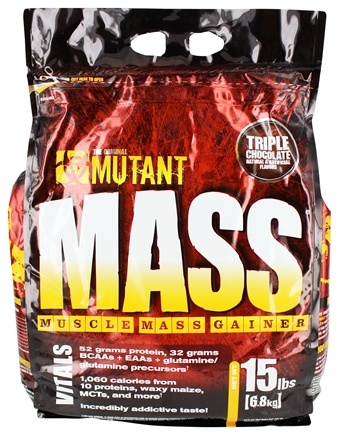 Mutant - Mass Muscle Mass Gainer Triple Chocolate - 15 lbs.