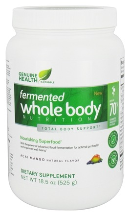 DROPPED: Genuine Health - Fermented Whole Body Nutrition Acai Mango - 18.5 oz.