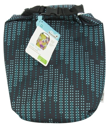 DROPPED: Blue Avocado - Clik 'N Go Reusable Insulated Roll Top Bag Black Dotted Chevron