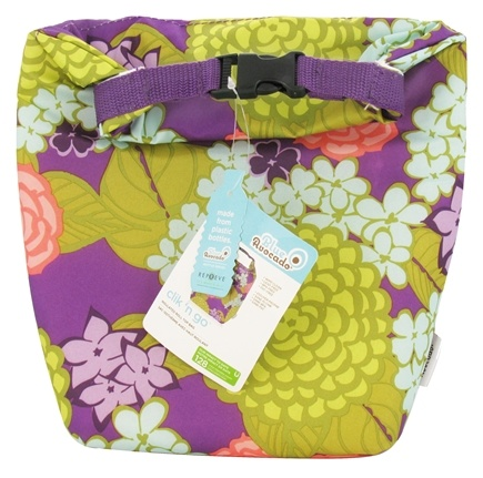 DROPPED: Blue Avocado - Clik 'N Go Reusable Insulated Roll Top Bag Purple Lanai